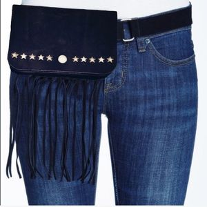 Genuine Leather Fanny Pack w/ Fringes